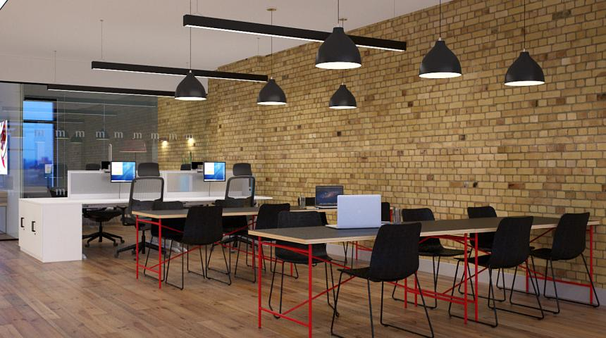 Molten Hot Desking Open Plan