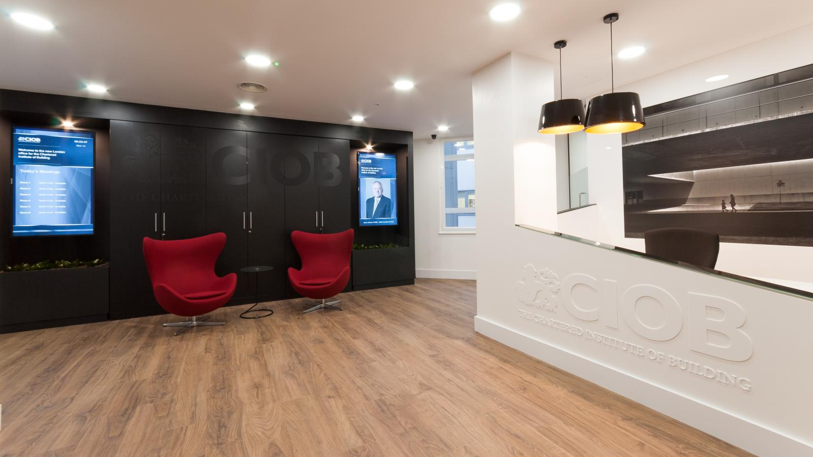 CIOB Reception and Client Waiting Area 1